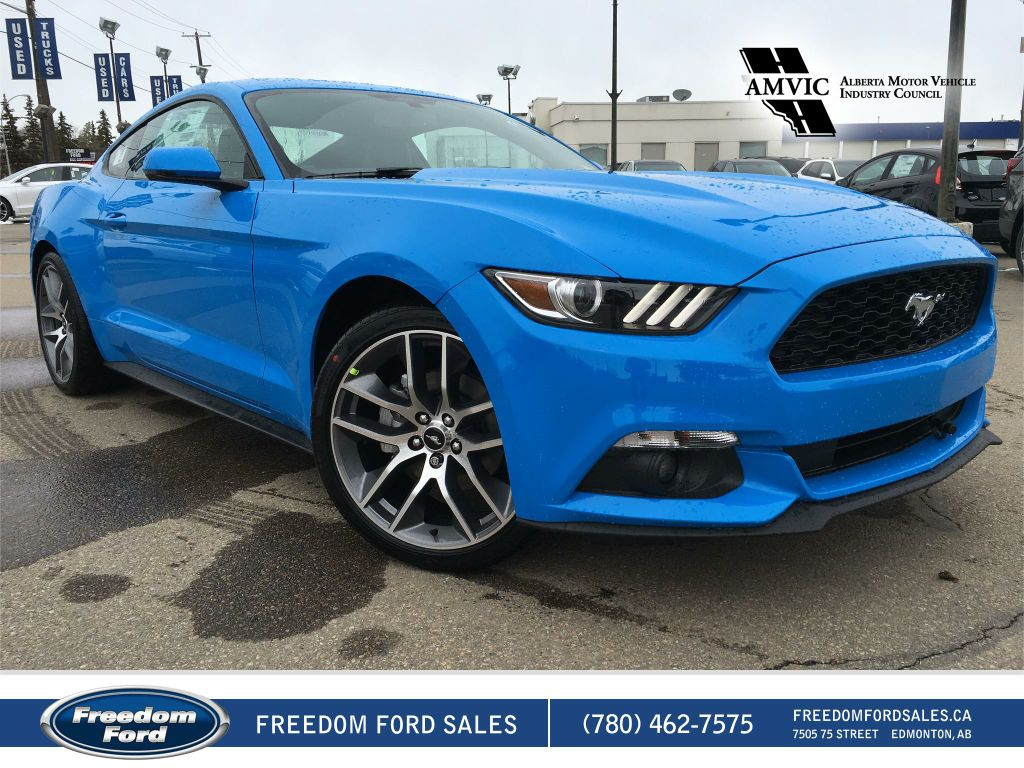 new 2017 ford mustang ecoboost premium 2 door car in edmonton 17mu3852 freedom ford. Black Bedroom Furniture Sets. Home Design Ideas