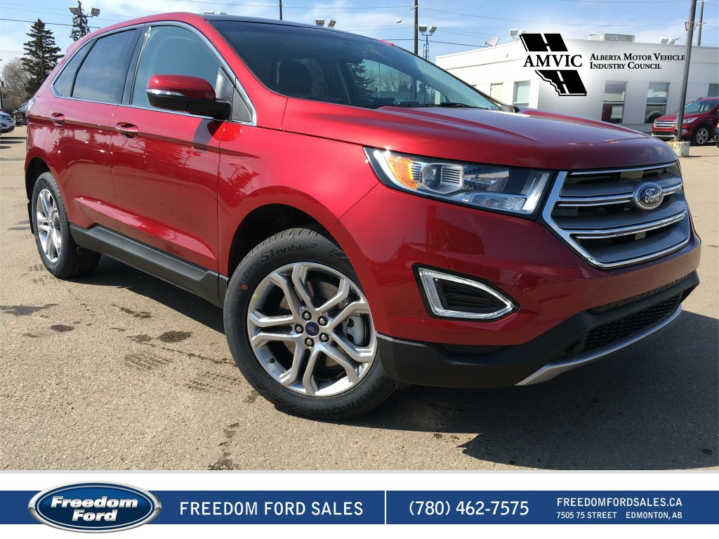 new 2017 ford edge titanium 4 door sport utility in edmonton 17ed5685 freedom ford. Black Bedroom Furniture Sets. Home Design Ideas