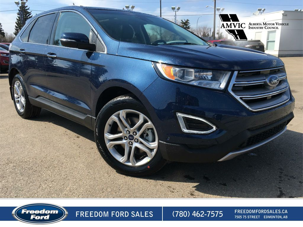 new 2017 ford edge titanium demo special 4 door sport utility in edmonton 17ed5684 freedom ford. Black Bedroom Furniture Sets. Home Design Ideas