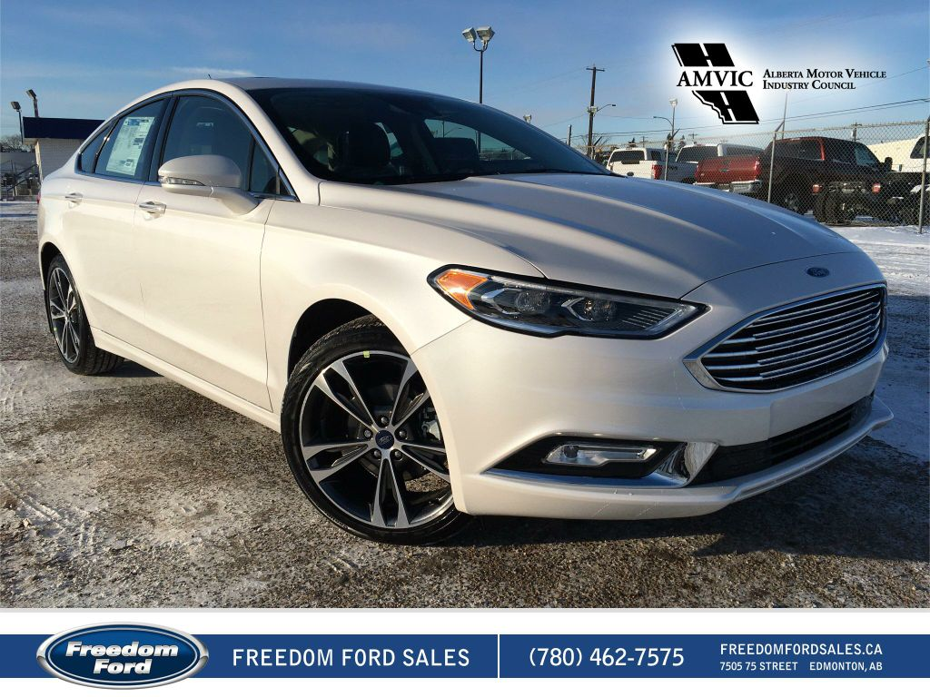 new 2017 ford fusion titanium 4 door car in edmonton 17fn3128 freedom ford. Black Bedroom Furniture Sets. Home Design Ideas